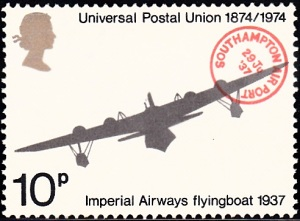 "723. Imperial Airways Flying Boat and ""Southampton Airport"" Postmark"
