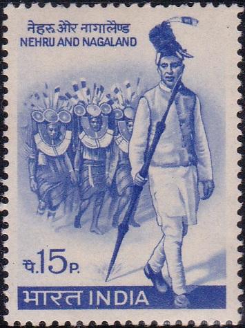 Nagaland Statehood : Jawaharlal Nehru wearing Naga Headgear