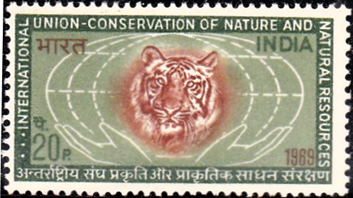 IUCN : Tiger and Globe