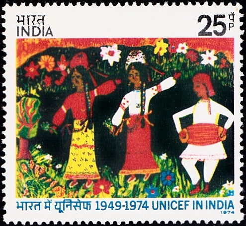 Indian Dancers : United Nations International Children's Emergency Fund