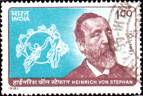 Heinrich von Stephan and Universal Postal Union (U.P.U.) Emblem