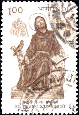 Saint Francis and Brother Falcon (Statue : Giovanni Collina)