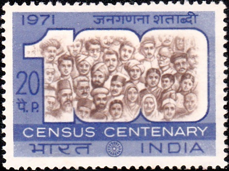 1971 Census of India : Indians within the Figure 100