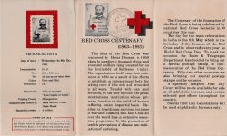 Henry Durant, India Stamp 1963, Information folder inside
