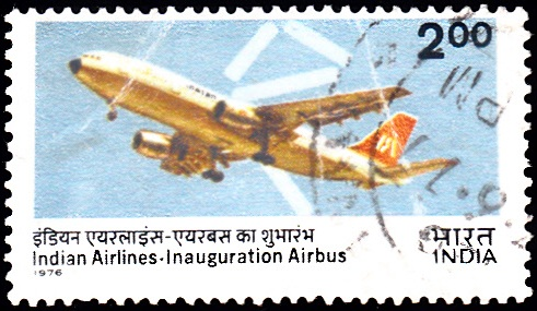 A300 B2 Airbus and some Air Routes of Air India, national flag carrier airlines