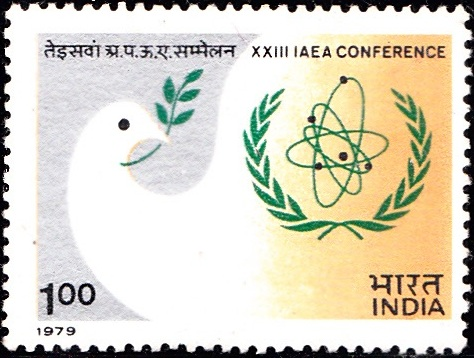 Peace Dove with Olive Branch and IAEA Emblem