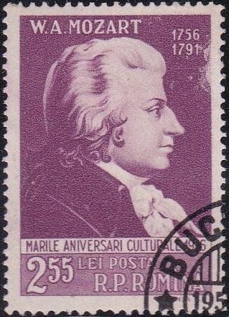 1130 Mozart [Romania Stamp]