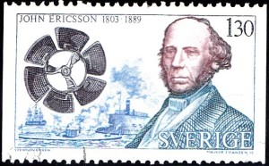 "1178 John Ericsson (1803-1889), ship propeller and ""Monitor"" [Swedish inventor]"