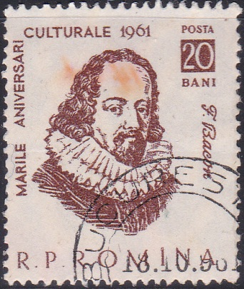 1443 Francis Bacon. [Romania Stamp]
