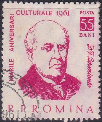 1445 Domingo F. Sarmiento [Romania Stamp]