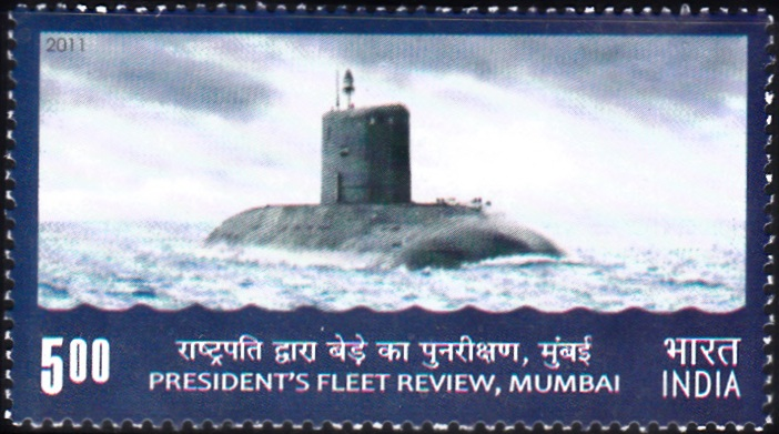 Indian Submarine : President's Fleet Review 2011