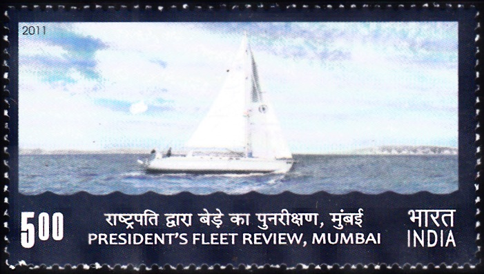Indian Presidential Yacht : President's Fleet Review 2011