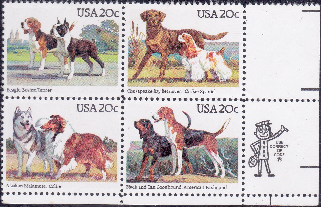 Dogs [Block of 4]