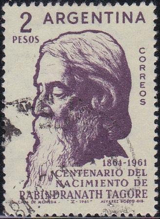 Rabindranath Tagore [Argentina Stamp]