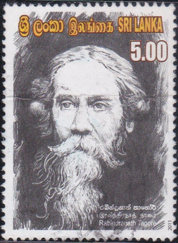 Rabindranath Tagore [Sri Lanka Stamp]