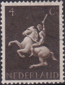 250 Man on horseback [Netherlands Stamp]