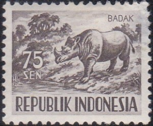 431 Asiatic two-horned rhinoceros [Animals Stamp]