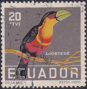 635 Red-breasted toucan [Birds Stamp]