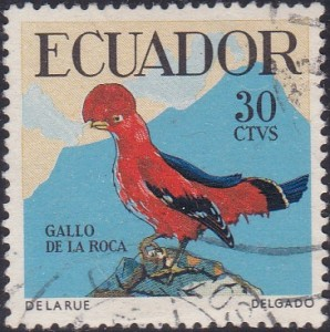 646 Andean cock-of-the-rock [Birds Stamp]