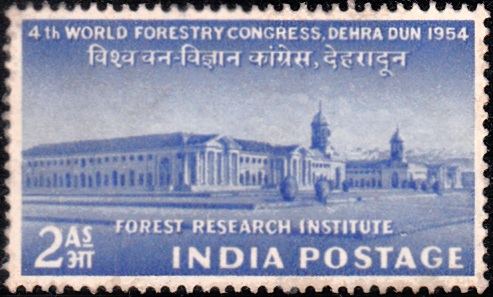 317 Forest Research Institute [India Stamp 1954]