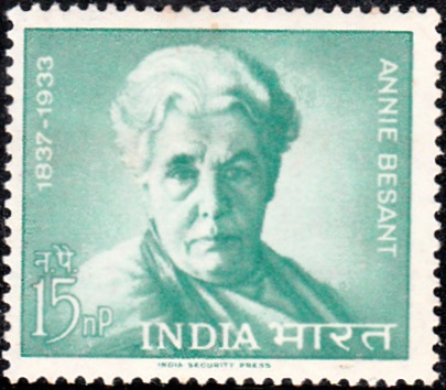387 Annie Besant [India Stamp 1963]