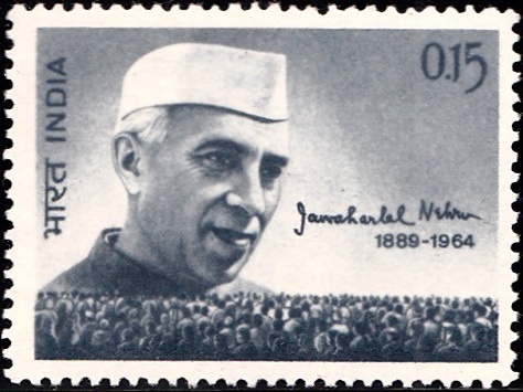 403 Jawaharlal Nehru & People [India Stamp 1964]