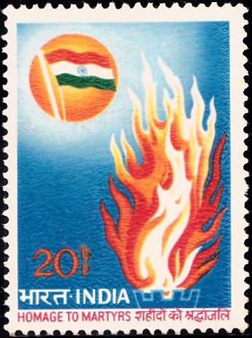 Indian National Flag and Flames