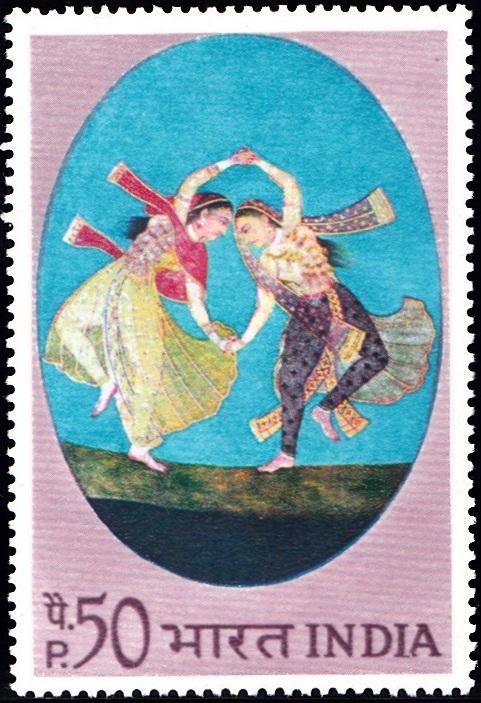 Kathak Dance Duet : Mughal Miniature Painting