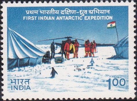 Indian Scientists at Antarctic Camp