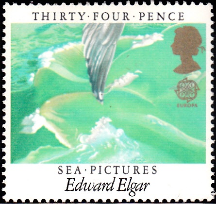 1106 Sea Pictures, by Edward Elgar, Waves, Wing [England Stamp 1985]