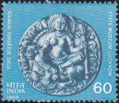 Goddess Durga on Terracotta Plaque