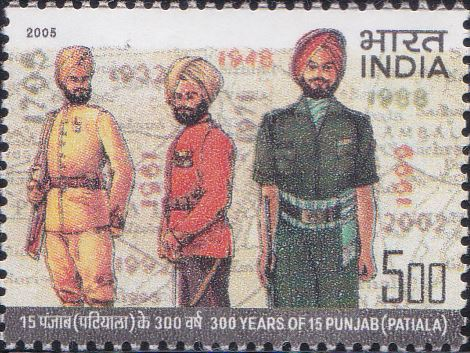 Regimental Uniforms, Important Years of Regiment and Map of Punjab