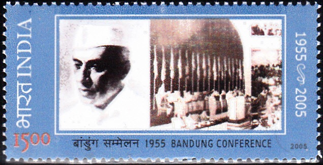 Nehru and Bandung Conference Scene in Indonesia
