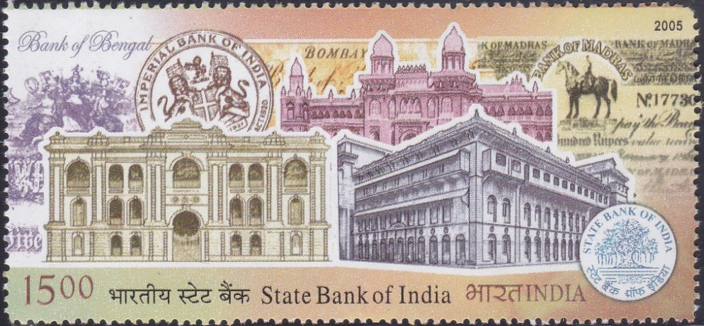 State Bank Buildings of Calcutta, Bombay & Madras and Bank Notes