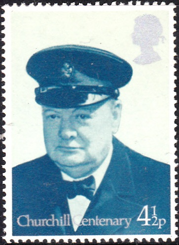728 Churchill, Lord Warden of the Cinque Ports, 1942 [England Stamp 1974]