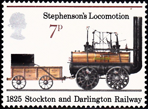 749 Stephenson's Locomotion, 1825 [England Stamp 1975]