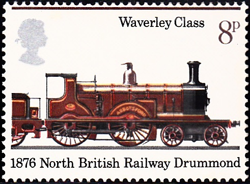750 Abbotsford, Waverley Class, 1876 [England Stamp 1975]