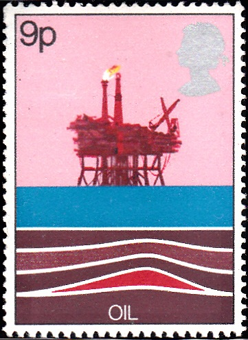 827 Oil Production Platform, North Sea [England Stamp 1978]