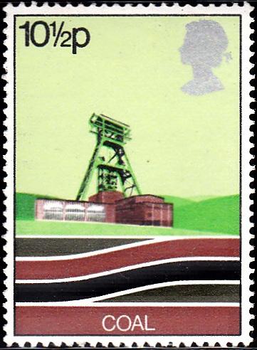828 Coal, Pithead [England Stamp 1978]