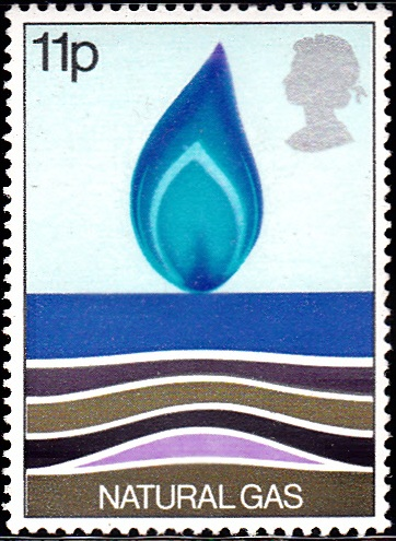 829 Natural Gas, Flame [England Stamp 1978]