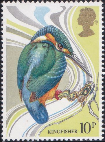 884 Kingfisher [England Stamp 1980]