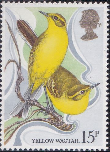 887 Yellow Wagtail [England Stamp 1980]