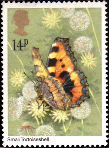 941 Small Tortoiseshell Butterfly [England Stamp 1981]