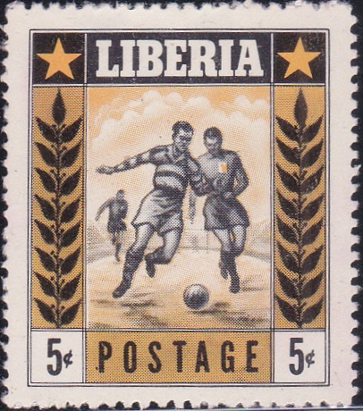 348 Soccer [Liberia Stamp 1955]