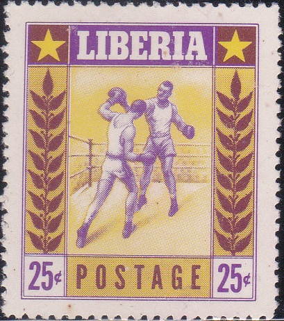 349 Boxing [Liberia Stamp 1955]