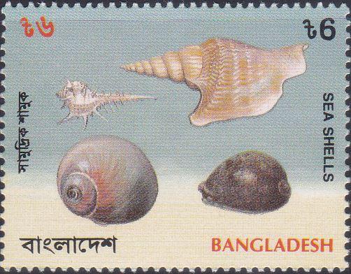 466 Snails - Sea Shells [Bangladesh Stamp 1994]