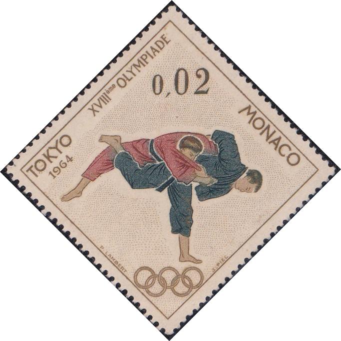 593 Judo (Olympic Games, Tokyo) [Monaco Diamond Stamp 1964]