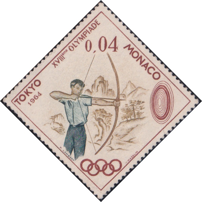 595 Archery (Olympic Games, Tokyo) [Monaco Diamond Stamp 1964]