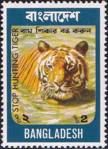 71 Swimming Tiger [Bangladesh Stamp 1974]