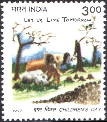 1719 Children's Day [India Stamp 1999]